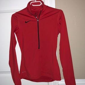 Nike dri fit slim half zip - long sleeve